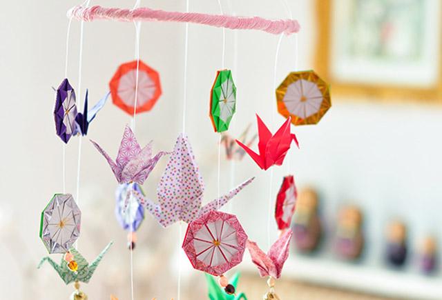 diy un joli mobile en origami - Fabriquer Mobile Bebe Origami