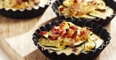 Tartelette de pommes de terre aux lardons